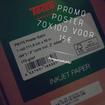 Super Promo : Poster 70×100 voor €15 (tot 30 juni 2018)